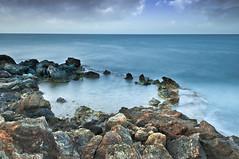 El castellar (Miguel Mora Hdez.) Tags: water agua largaexposición longexposure sea mar azul blue españa spain mazarrón murcia rocas rocks