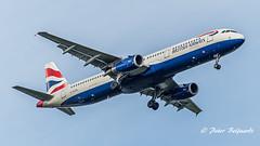 G-EUXL  Airbus A321-200 - British Airways (Peter Beljaards) Tags: msn3254 v2500 haarlemmermeer nikon7003000mmf4556 final landing ba britishairways a321 airbusa321 geuxl ams eham schiphol airbusa321200
