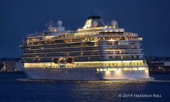 Viking Sun (Bergen) (© Freddie) Tags: essex thurrock grays wharfroad thames riverthames cruise cruiseliner vikingsun imo9725433 fjroll ©freddie