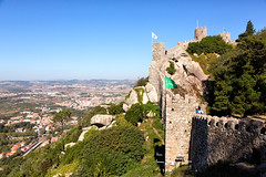 The Moorish Castle of Sintra_7965 (hkoons) Tags: castelodosmouros iberianpeninsula moorishcastle parquenaturaldesintracascais castle city europe lisbon moorish moors portugal sintra cidadel citadel defense fort fortes fortress grass hill home horizon keep knights land landscape lord mote old outdoors palace panorama parapet residence tower village villagers walled walls
