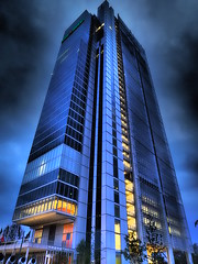 Blu notte (VauGio) Tags: turin torino olympus olympuspenf notte night grattacielo skycraper blue blu lacittàmetropolitanaditorinovistadavoi