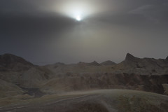 Dust Storm - 3 (fksr) Tags: duststorm haze desert landscape sun rocks hills zabriskiepoint deathvalleynationalpark california