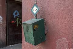 Sleutelkastje met lamp (Tim Boric) Tags: świętochłowice tram tramway streetcar strassenbahn tramwaj interurban vicinal überlandbahn ztm enkelspoor beveiliging singletrack signalling