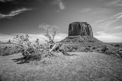 Merrick Butte (RoamingTogether) Tags: 70200vrii arizona blackandwhite merrickbutte monumentvalley nikon nikon7020028 nikond700 utah