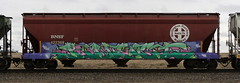 Kwest (quiet-silence) Tags: graffiti graff freight fr8 train railroad railcar art kwest boxstarz hopper bnsf e2e endtoend bnsf422368 boxstars