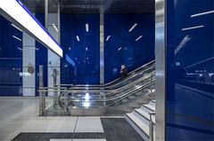 How Blue Can You Get (henny vogelaar) Tags: germany düsseldorf ubahn station schadowstrasse color bleu architecture wehrhahnlinie