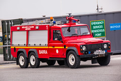 HIA LandRover Fire Engine at Barra Airport (Briantc) Tags: scotland barra isleofbarra hia landrover fireengine 6wheeler carmichael