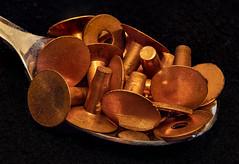 A Spoonful of Copper Rivets (channel locks) Tags: focusstack spoon aspoonful macromondays copper rivet