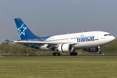 C-GTSH A310 Air Transat (COCOAJAMESON) Tags: manchester landing touchdown canon runway canadian canada airtransat man