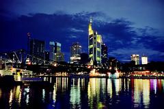 Skyline II (roman.koenig) Tags: cinestill 800t contax t3 frankfurt am main skyline night