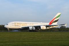 A6-EVA Airbus A380-842 EGCC 19-04-19 (MarkP51) Tags: a6eva airbus a380842 a380 emiratesairlines ek uae manchester ringway airport man egcc england airliner aircraft airplane plane image markp51 nikon d500 nikond500 sunshine sunny nikon24120f4vr