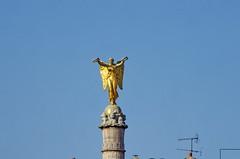 480 Paris en Mars 2019 - le sommet de la colonne de la Fontaine du Palmier, Place du Châtelet (paspog) Tags: paris mars march märz france 2019 fontainedupalmier placeduchâtelet