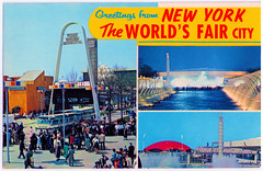 New York - the World's Fair City (pepandtim) Tags: postcard old early nostalgia nostalgic new york worlds fair city plastichrome series colourpicture publishers boston massachusetts unofficial reproduction general foods arch bell pavilion night fountain planets 23061964 1964 77nyt78 anderson fulbridge road paston peterborough england kennedy airport boeing london bst jean jack kilby patent miniature integrated circuit robert noyce nobel prize physics
