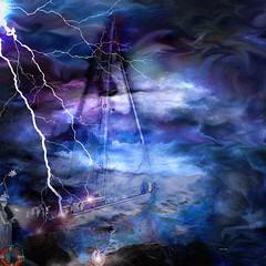 DorianaSinnett_Guardian Of The Storm (atelierimagery) Tags: digitalart boat ocean storm lightning waves