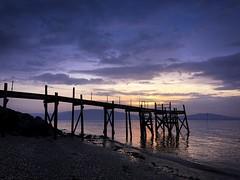 Holywood pier (Mark Grant-Jones) Tags: pier shoreline belfast holywood fishing sunset sea coast landscape iphone seaside coastal sun cloud sky shore beach fish jetty photo cameraphone northernireland tourism