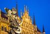 Munich photowalk (werner boehm *) Tags: wernerboehm marienplatz mariensäule neuesrathausmünchen blauestunde cityscape architecture