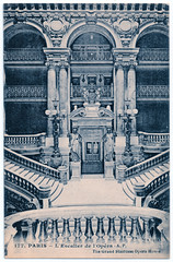 Paris - Opera House Grand Staircase (pepandtim) Tags: postcard old early nostalgia nostalgic