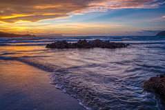 Sunset, Plimmerton (stewartbaird) Tags: plimmerton beach wellington sunset waves sundown sky seascape shore newzealand landscape sea