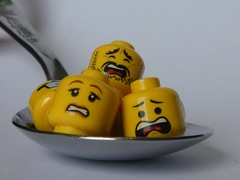 Head Soup (HMM) (captain_j03) Tags: toy spielzeug 365toyproject lego minifigure minifig löffel teelöffel spoon aspoonful macromondays