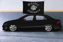 Volkswagen Voyage (Axel Alexis) Tags: volkswagen fixa low auto white rebaixados rebaixado red grey static stance y