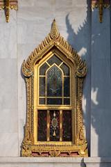 Stained Glass Window, Phra Ubosot, Wat Benchamabophit (aey.somsawat) Tags: architecture bangkok buddhisttemple godandangel marbletemple stainedglass thaiarchitecture thepphanom watbenchamabophit window