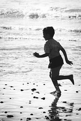 (mgschiavon) Tags: blackandwhite bw blackwhite beach water sea california people contrast reflections outdoors