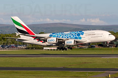 Emirates A6-EOS 11-5-2019 (Enda Burke) Tags: a6eos emirates uae avgeek aviation airport airbus airbusa380 expo2020 canon canon7dmk2 egcc engine runway ringway travel takeoff taxiing taxiway terminal1 manchesterairport manchester man manc manairport manchesterrunwayvisitorpark manchestercity mcr a380 airbusa380800