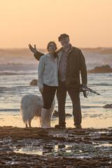 IMG_7923 (armadil) Tags: mavericks beach beaches californiabeaches us usatsunset dog whitedog pyreneesdog