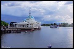 Masjid India ( Indian Mosque)  Kuching (VERODAR) Tags: mosque river sarawakriver paktambang boat kuching clouds sarawak sarawakborneo borneo nikon verodar veronicasridar