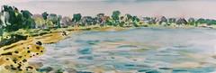 Guidel plage 2 (christian angué) Tags: plage mer estran riviere laïta maritime morbihan bretagne aquarelle croquis usk