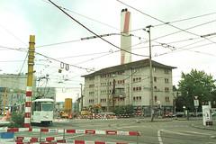 Post Voltaplatz 15 08 -06 (hans.hirsch) Tags: post volta platz kreuzung baustelle nord tangente 4056 sankt johann basel tram bvb