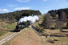 Early Spring in France (gooey_lewy) Tags: voies ferrées du velay vfv express train steam loco locomotive rail railway photo charter trip 040040t mallet green po tank engine articulated rhone southern france forest wood metre gauge narrow 101 020 1903 rural market day plant tree focal piece 0440t bridge viaduct blancmisseron works crespinnord number 337 1908