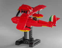 Porco Rosso`s Savoia S.21 (Tino Poutiainen) Tags: lego legomoc legobuild legography plane seaplane anime aircraft aviation moc porco rosso savoia movie model moustache