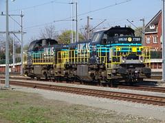 Lineas 7789 + 7784 at Venlo,the Netherlands , April 10,2019! (Treinemanke) Tags: lineas locomotives diesel diesellocomotives 7789 7784 new colors