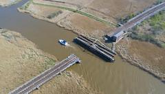 Somerleyton swing bridge (robmcrorie) Tags: somerleyton swing bridge norfolk broads railway boat open phantom 4