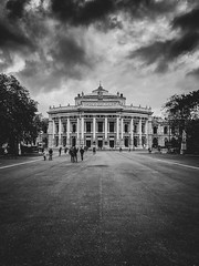 Imperial (hermez) Tags: vienna austria burgtheater classic building architecture monochrome europe theater vignette iphoneography clouds rain