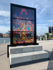 Glass of Thrones 4: House Targaryen, Queen's Quay at SSE Arena, Belfast (John D McDonald) Tags: iphone appleiphone iphonexr appleiphonexr belfast eastbelfast queensisland queensquay northernireland ni ulster geotagged countydown codown down titanicquarter odyssey sse glassofthrones gameofthrones glassofthrones4 housetargaryen targaryen window stainedglasswindow stainedglass wenlock debrawenlock tourismni tourismnorthernireland tourismireland northernirelandtouristboard nitb blue sky bluesky