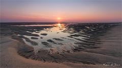 Watch your step! (karindebruin) Tags: thenetherlands laagwater lowtide jos johan sigrid maasvlakte patterns patronen zonsondergang strand beach water reflection reflectie