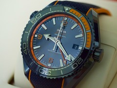OMEGA Planet Ocean 'Big Blue' (huiaaron) Tags: panasoniclumixgh2 lumix45mmf28 omega planetocean bigblue m43 watch wristwatch blue divingwatch sportwatch automatic
