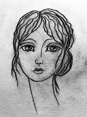 FADE TO GREY ~ DEVENIR GRIS, DEVENIR GRIS ~ VISAGE 🎨 (Cabinet of Old Secret Loves) Tags: visage notre dame cathedral france french english fadetogrey gris devenirgris time life love death burn lost church faith age old face iluustration art annabelanger annabelle ghostales1957 etsy society6 drawing painting paint artsy creative insta instagram instagood modigliani rain distant song 80s stevestrange music