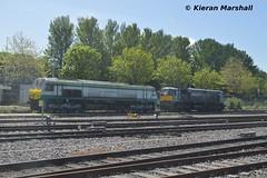 217 and 088 at Heuston, 4/5/19 (hurricanemk1c) Tags: railways railway train trains irish rail irishrail iarnród éireann iarnródéireann dublin heuston 2019 generalmotors gm emd 201 217 088 071