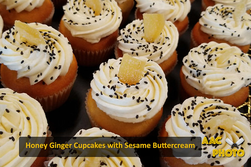 """Honey Ginger Sesame Cupcakes • <a style=""""font-size:0.8em;"""" href=""""http://www.flickr.com/photos/159796538@N03/46926979775/"""" target=""""_blank"""">View on Flickr</a>"""
