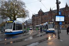 GVB 2114 & 2018 (Will Swain) Tags: amsterdam 10th november 2018 netherlands transport travel europe train trains rail railways railway nl continent eu station gvb 2114