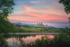Monasterio de El Escorial (Andrés Domínguez Rituerto) Tags: españa spain elescorial comunidaddemadrid atardecer sunset monasteriodeelescorial nubes clouds sony