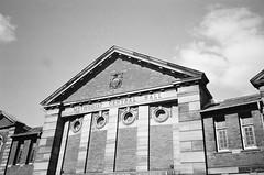 Methodist Hall, Fisher Street (bigalid) Tags: film 35mm vivitar mega 200 ilford xp2 c41 bw april 2019 carlilse