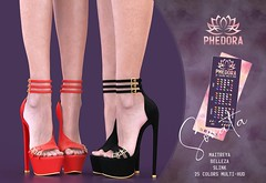 "Phedora. for FaMESHed X - ""Sonata"" heels♥ (Celena Galli ~ phedora.) Tags: secondlife sl second life phedora 3d mesh shoes brand womenswear woman women epiphany theepiphany gacha rare gachamania gachaset fashion event events classy cute chic kinky kawaii sexy sassy style original content 100mesh new newrelease meshbody 25colors hud multihud flats flat feet maitreya lara slink physique hourglass belleza isis freya venus heels heel metallic glam single colors straps strappy strappyheels"
