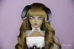 Black silver Sheep horns MSD (AnnaZu) Tags: blsck silver sheep horns msd annazu annaku vesnushkahandmade commission poymer clay sculpting magnetic doll bjd abjd balljointed fairyland minifee fairyline alicia