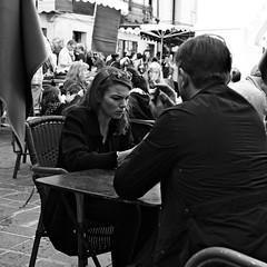 Serious talking (lesphotosdepatrick) Tags: candidshot streetphotography uzesopenairmarket marcheduzes uzes fineeyemagazine fujix100f fujixlovers fujifilm acrosfilmsimulation acros