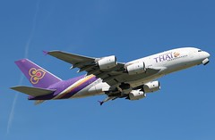 HS-TUE Airbus A380-841 Thai Airways (R.K.C. Photography) Tags: hstue airbus a380841 a380 thaiairways aircraft aviation airliner heathrow london england unitedkingdom uk londonheathrowairport lhr egll canoneos100d