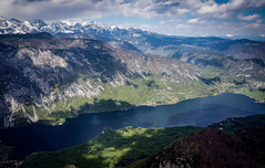 Lake Bohinj , Slovenia (Ula P) Tags: lake bohinj slovenia słowenia bluewater mountains clouds sony sonyalpha landscape green snow explore